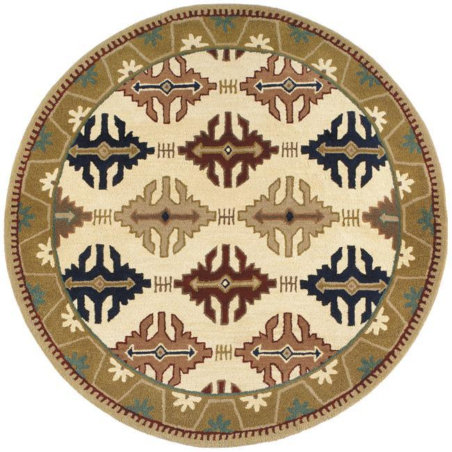 Hand-tufted Cambria Wool Rug (6' Round)
