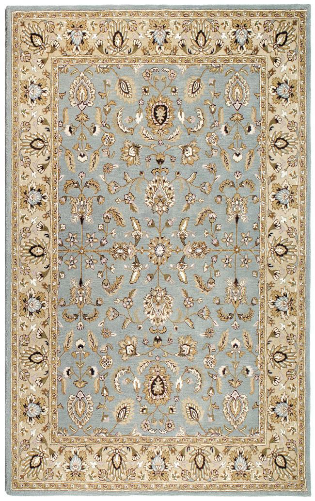 Hand-tufted Aqua Waterford Wool Rug (8' x 11')