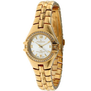 Peugeot Women's Goldtone Crystal Accent Watch