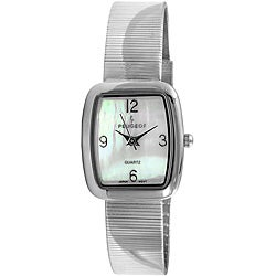 Peugeot Women's Silvertone Spiral Mesh Bracelet Watch