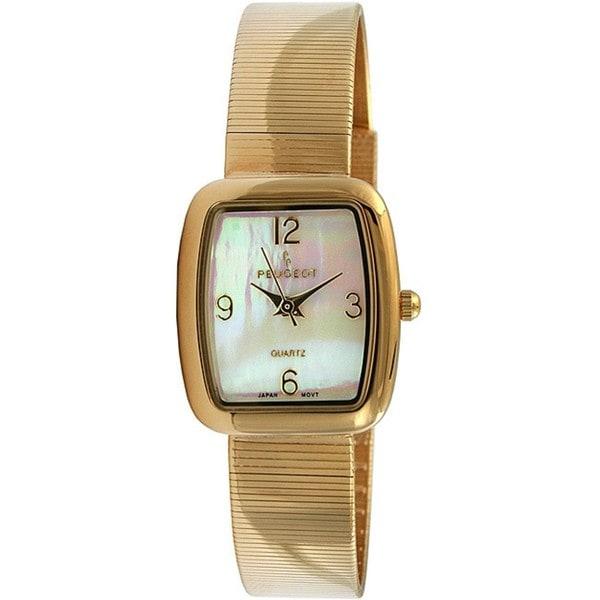Peugeot Women's Goldtone Spiral Mesh Bracelet Watch