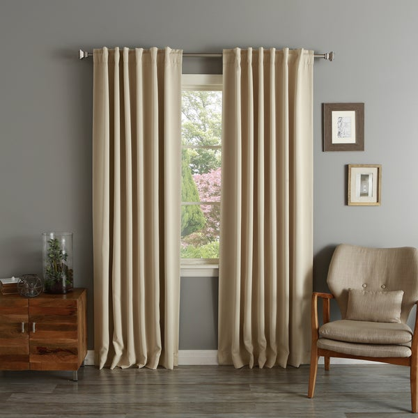 Aurora Home Solid Thermal Insulated 108-inch Blackout Curtain Panel Pair