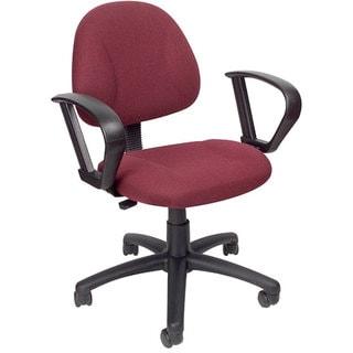 Boss Burgundy Mid-back Ergonomic Task Chair