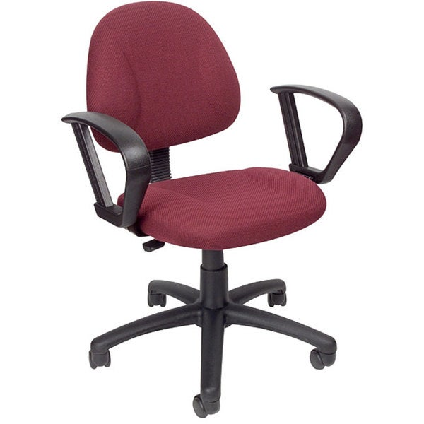 Boss Burgundy Mid-back Ergonomic Task Chair