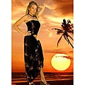 Bamboo Print Black Sarong Set (Indonesia)
