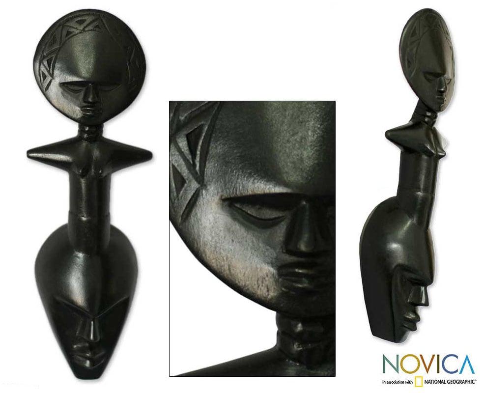 Akan 'Together' Wood Mask (Ghana)