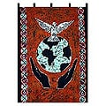 Batik 'Let Peace Reign' Wall Hanging (Ghana)
