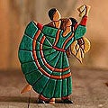 Cedar/ Mahogany 'Dance of Romance' Sculpture (Peru)