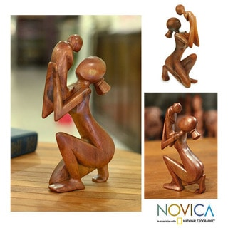 Wood 'Moment of Tenderness' Sculpture (Indonesia)