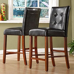Hutton Faux Leather Counter Height Stools (Set of 2)