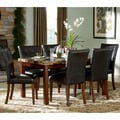 Tribecca Home Hutton Faux Marble 7-piece Cherry Dining Set