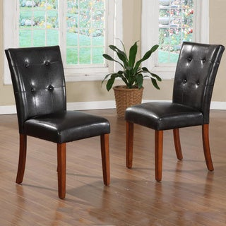 Hutton Faux Leather Upholstered Dining Chairs (Set of 2)