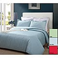 250 Thread Count Solid 3-piece Duvet Cover Set