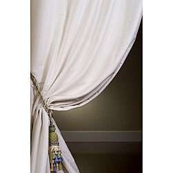 Signature Oyster Cotton Silk 84-inch Curtain Panel