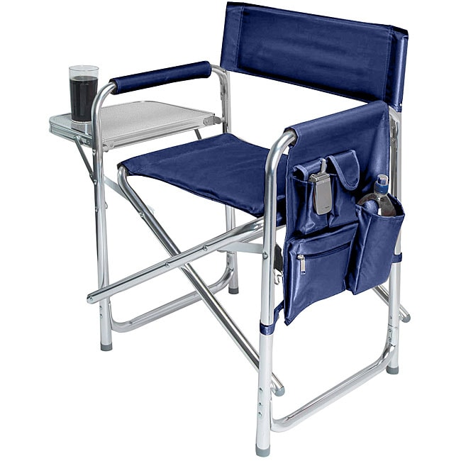 Picnic Time Portable Navy Sports Chair Overstock Shopping Big Discounts o