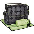 OiOi Charcoal Dot Messenger Diaper Bag