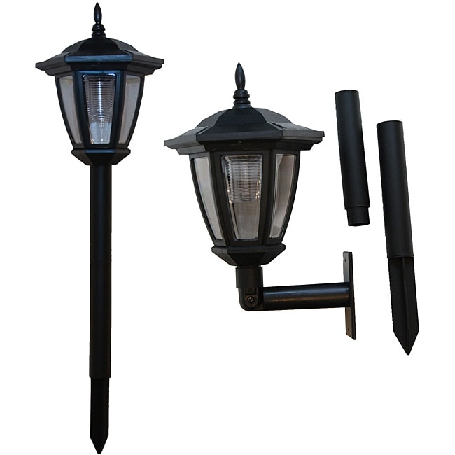 tricod ground wall mount solar lights pack of 2