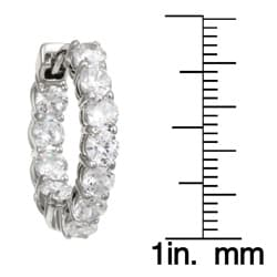 Rhodium-plated Cubic Zirconia 21-mm Hoop Earrings