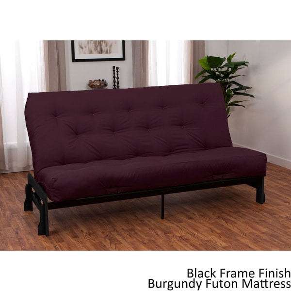 Boston Finish Full Armless Frame/ Premier Futon Set Sleeper Bed