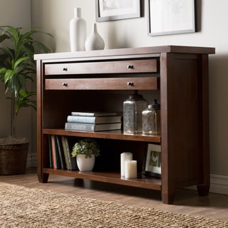 Walnut Cherry Navigator Console Table