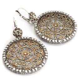 Sweet Romance Rosette Filigree Earrings