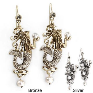 Sweet Romance Art Nouveau Mermaid Earrings