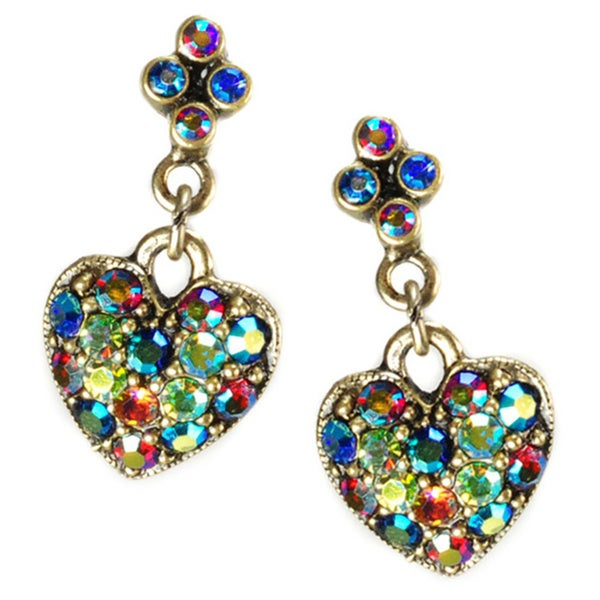 Sweet Romance Multi Aurora Hearts Earrings