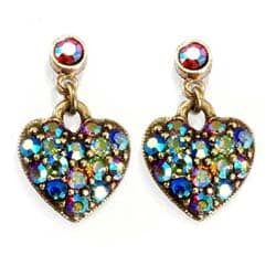 Sweet Romance Multi Aurora Hearts Earrings