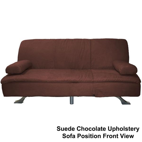 Mystic Microfiber Suede Click Clack Futon Sofa Bed
