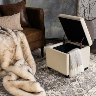 Safavieh Jonathan Storage Off White Flip-top Ottoman