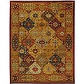 Handmade Diamond Bakhtiari Multi/ Red Wool Rug (12' x 18')
