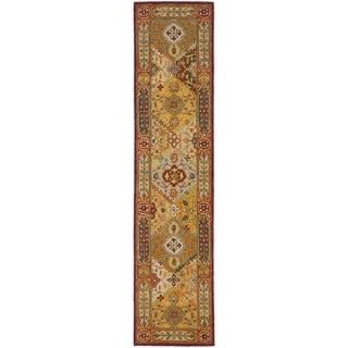 Handmade Diamond Bakhtiari Multi/ Red Wool Runner (2'3 x 16')