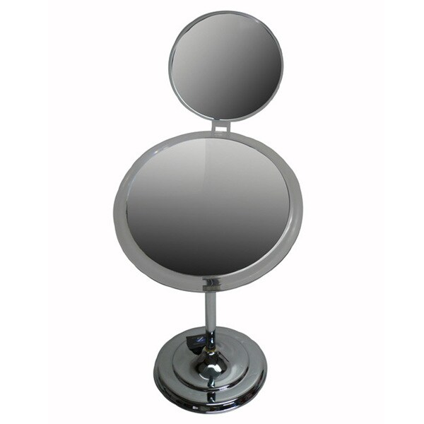 Zadro 9-inch Surround-lighted 7x Chrome Pedestal Mirror