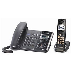 Panasonic DECT 6.0 2-Line Corded/ Cordless Phone (Refurbished)