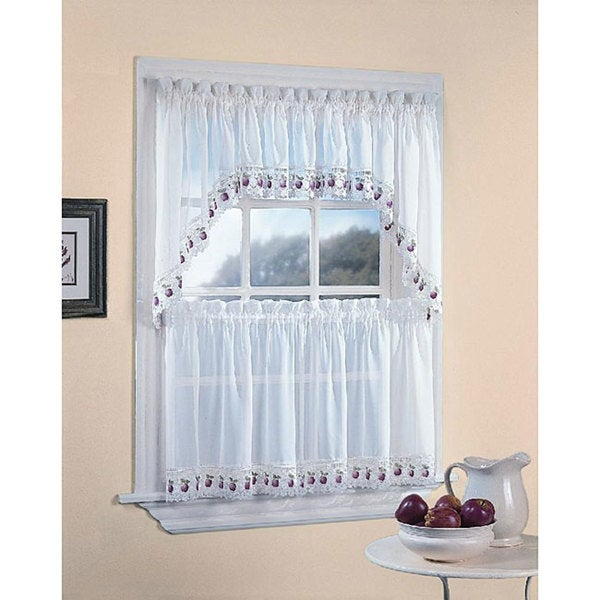 Apple Orchard Kitchen 5-piece Window Tier and Swag Set 5736883