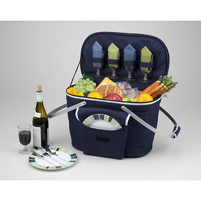 Picnic At Ascot Collapsible Insulated Picnic Basket : Picnic at ascot collapsible insulated basket