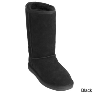Shearling Sheepskin Flat Sole Comfort Boots