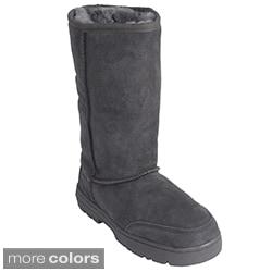Shearling Sheepskin Lug Sole Comfort Boots