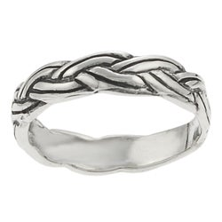 Tressa Sterling Silver Braided Baby Ring
