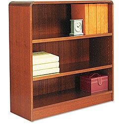 Alera Radius Corner Cherry Wood Bookcase