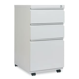 Alera Three-Drawer Pedestal File with Full-Length Pull, Light Gray