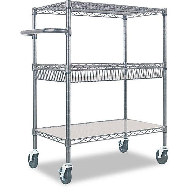 Alera 3 Tier Rolling Cart 12229538 Overstock Com