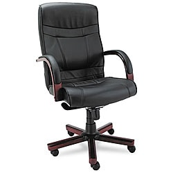 Alera Madaris Series High Back Leather Chair