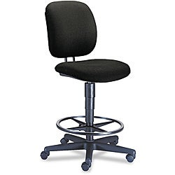 HON Comfortask Black Task Swivel Stool