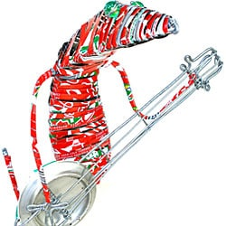 Recycled Tin Guitar Gecko Figurine (South Africa)
