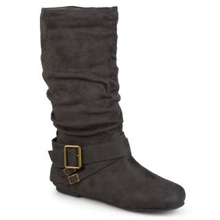 Glaze by Adi Women's Side Accent Buckle Slouchy Boots