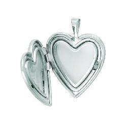 Sterling Silver Heart-shaped 'Mom' Flower Locket
