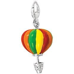 Sterling Silver Enamel Hot Air Balloon Charm