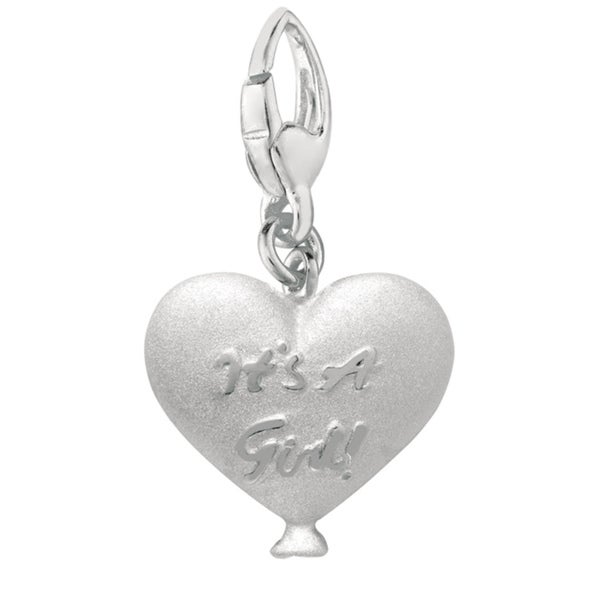 Sterling Silver 'It's A Girl in Heart' Balloon Charm