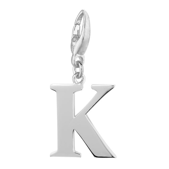 Sterling Silver Initial 'K' Charm